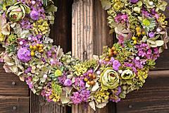 Dekorácie - Prírodný veniec z hortenzie - 10445351_