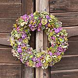 Dekorácie - Prírodný veniec z hortenzie - 10445352_