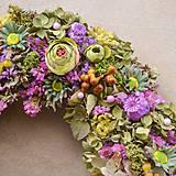 Dekorácie - Prírodný veniec z hortenzie - 10445353_