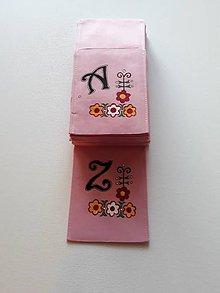 Úžitkový textil - Maľované vrecko na príbor - ABECEDA, 12 x 23,5 cm - - 10443303_