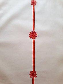 Úžitkový textil - Maľované prestieranie pod tanier - svetlo oranžová, 38 x 31 cm - 10443721_