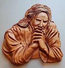 Obrazy - Drevorezba  Pán Ježíš Kristus - 10442589_