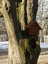 Pre zvieratká - Vtáčia búdka / domček / zrubová chatka - ORECH - 10443873_