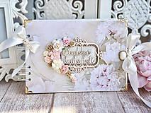 Papiernictvo - Svadobná kniha hostí - 10444038_