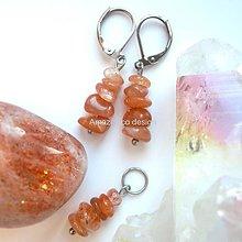 Sady šperkov - Náušnice a přívěšek sluneční kámen - 10444793_