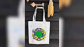 Iné tašky - ♥ Plátená, ručne maľovaná taška ♥ - 10443956_