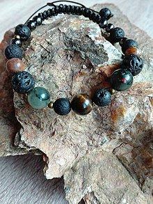 Náramky - Pánsky náramok Mix kameňov - 10444400_