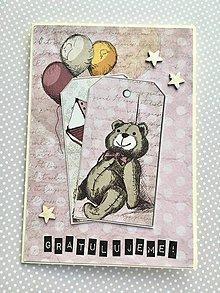 Papiernictvo - Pohľadnica k narodeniu dieťaťa - 10445277_