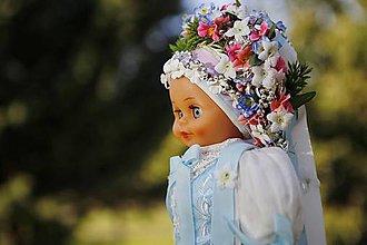 Bábiky - Krojovaná bábika (Láb) - materiál zo starého orig. kroja - 10445292_