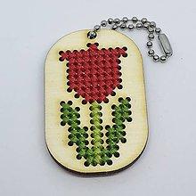 Kľúčenky - Červený tulipán - prívesok - 10444878_