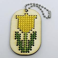 Kľúčenky - Žltý tulipán - prívesok - 10444902_