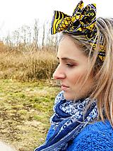 Šatky - Šatka/Mašľa do vlasov Nabou - 10444254_