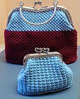 Kabelky - Háčkovaná kabelka s peňaženkou-sada - 10443889_