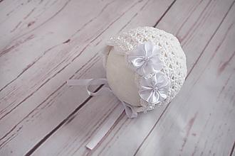 Detské čiapky - čepček (nielen) na krst - 10444973_