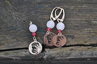 Sady šperkov - Slnko a mesiac Rubín a Ruženín sada - 10445375_