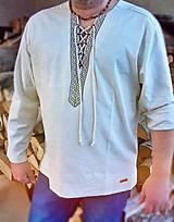 Pánska ľanová košeľa NATURAL