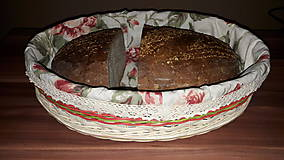 Košíky - Košík na chlieb s textilnou výplňou - 10445290_