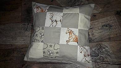 Úžitkový textil - Obliečka na vankúš,kone - 10445280_