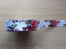 Galantéria - Stuha biela saténová ruža - 10443144_