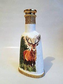Nádoby - Fľaša s jeleňom 1 - 10444448_