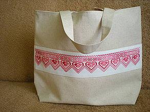 Veľké tašky - vyšívaná  taška - 10445062_