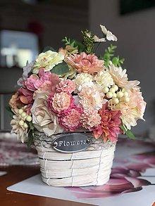 Dekorácie - Kvetinová dekorácia na stol - 10443991_