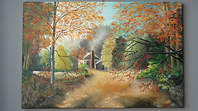 Obrazy - Jeseň na chate - 10444846_