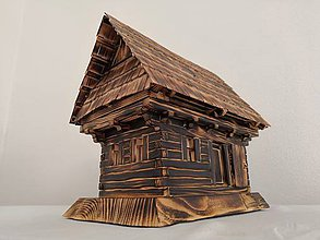 Dekorácie - Oravský salaš (drevenica) - 10443333_
