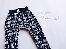 Detské oblečenie - Detské tepláky s folk motívom - 10442328_