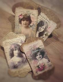 """Dekorácie - Vintage sada špulek """"Děvčátka"""" - 10444929_"""