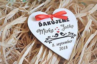 Darčeky pre svadobčanov - Svadobné magnetky - 10444344_