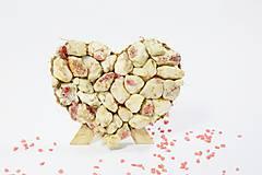 Dekorácie - Srdce z kameňa  - 10444467_