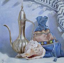 Obrazy - Orientální zátiší - olejomalba na plátně - 10442346_