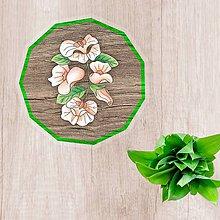 Pomôcky - Podšálky kvetové (imitácia drevo) - 10442384_