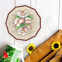Pomôcky - Podšálky kvetové (ornamenty) - 10442385_