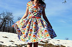 Šaty - Folk kvety - 10446115_