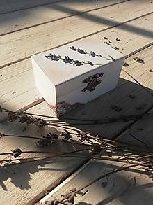 Krabičky - Modelovana levanduľa na krabicke - 10446518_