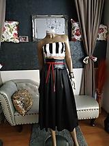Sukne - Čierna sukňa s vysokým pasom - 10447240_