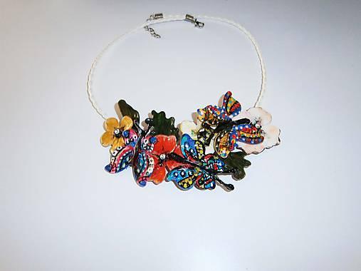 lel,boho náhrdelník motýlky