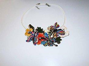 Náhrdelníky - lel,boho náhrdelník motýlky - 10445806_