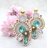 Náušnice - Neha pastelových opálov /plesové šujtášové náušnice/ - 10445564_