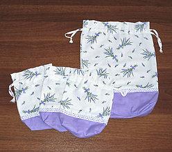Úžitkový textil - vrecúško na voňavé bylinky a pečivo  v sadě - 10445641_