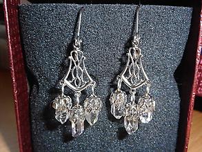 Náušnice - brincos com cristais romantic cristals - 10448589_