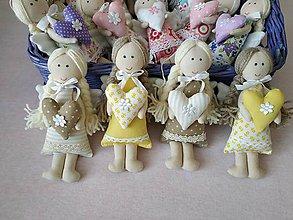 Dekorácie - Mini anjeliky pre radosť (Béžová) - 10445768_