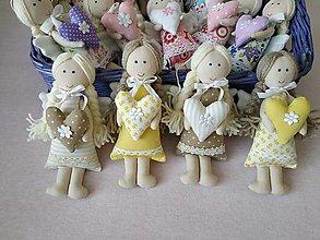 Dekorácie - Mini anjeliky pre radosť (Žltá) - 10445777_