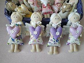 Dekorácie - Mini anjeliky pre radosť (Fialová) - 10445826_