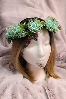 Ozdoby do vlasov - Svadobný kvetinový venček do vlasov