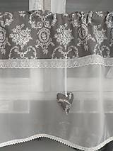 Úžitkový textil - Vitrážková záclonka  š 130cm - 10447549_