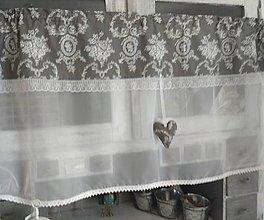 Úžitkový textil - Vitrážková záclonka  š 130cm - 10447548_