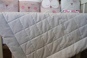 Textil - Detská deka Nr.519 sivá - 10446969_